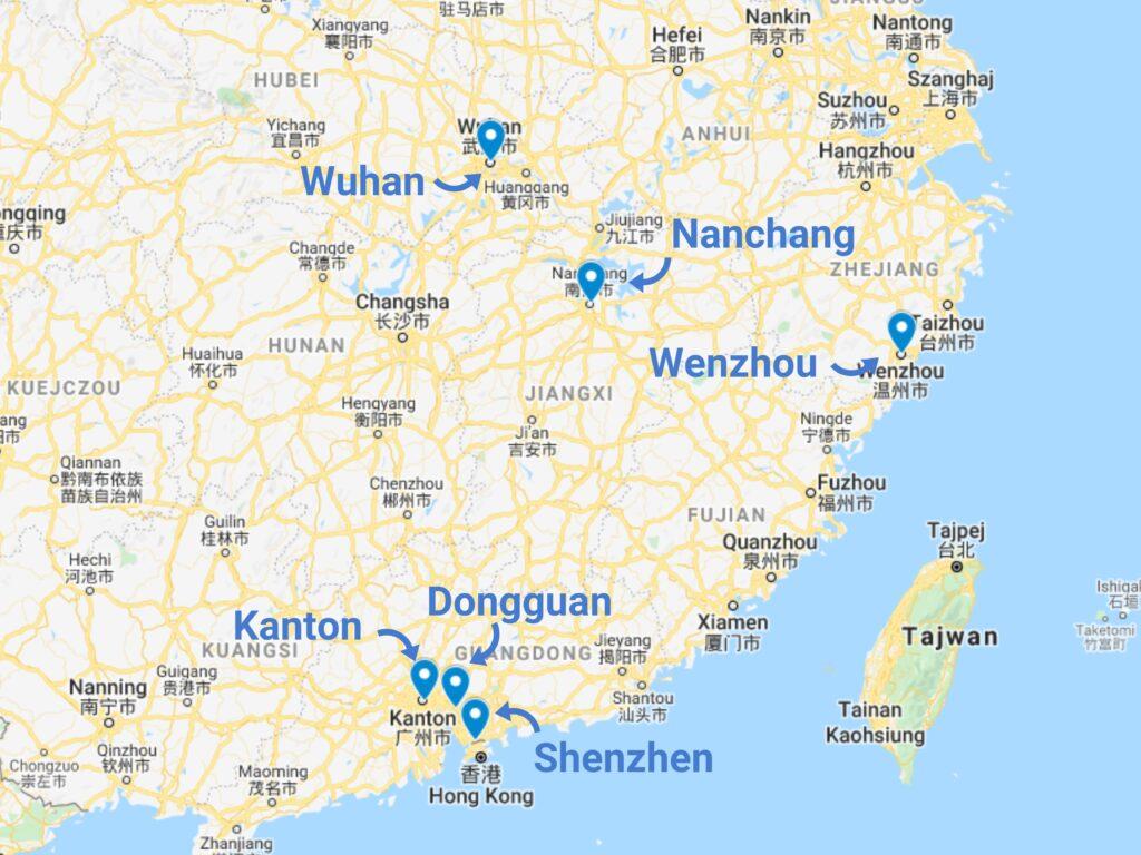 Import dronów z Chin - zagłębia produkcyjne