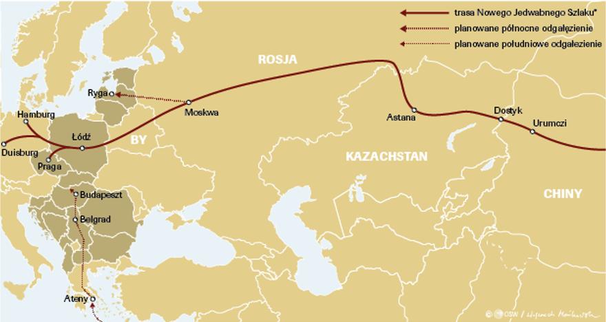 transport kolejowy z Chin