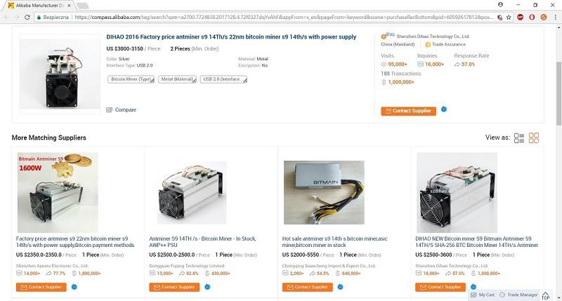 Chiny - import koparek do kryptowalut