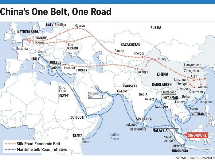 Nowy Jedwabny Szlak - mapa