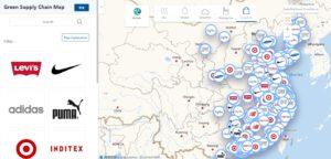 mapa zanieczyszczeń chińskich fabryk