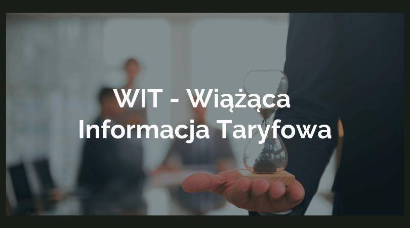 Wiążąca Informacja Taryfowa