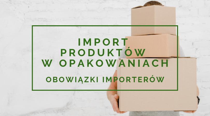 import produktów w opakowaniach