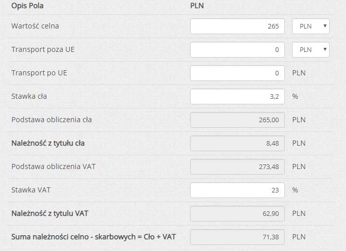 Zakupy na Aliexpress cło i VAT kalkulator opłat