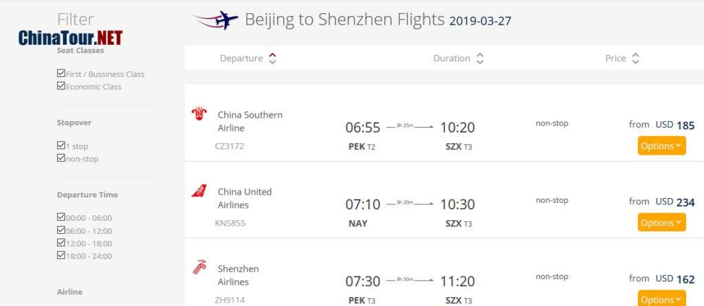 Jak zarezerwować loty w Chinach ChinaTour