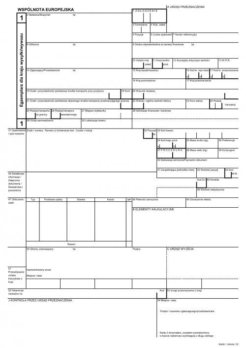 dokument SAD