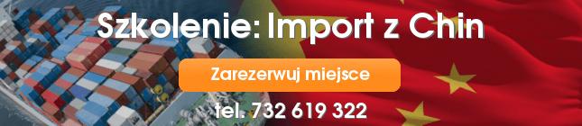 Szkolenie: Import z Chin