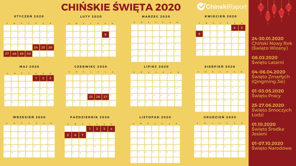 kalendarz chińskich świąt 2020