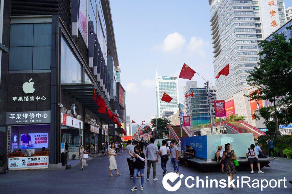 Shenzhen region produkcji elektroniki w Chinach miasto