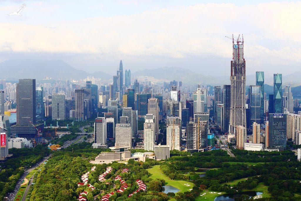 Miasto Shenzhen w Chinach