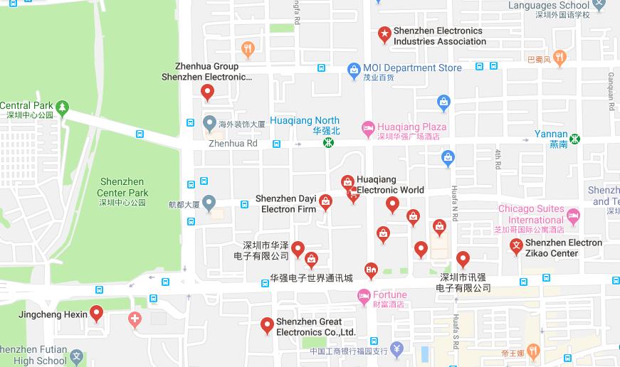 Shenzhen region produkcji elektroniki w Chinach zagłębie