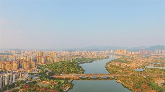 Miasto Zengcheng w Chinach