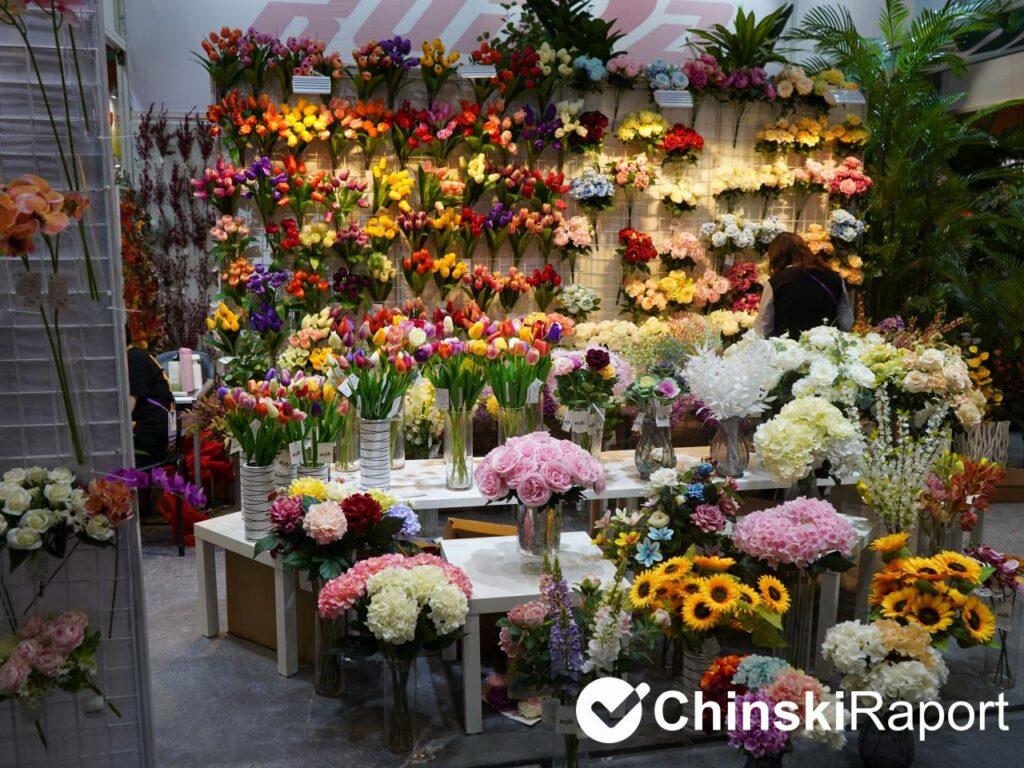 Tianjin region produkcji sztucznych kwiatów w Chinach targi