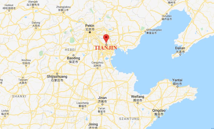 Tianjin położenie w Chinach