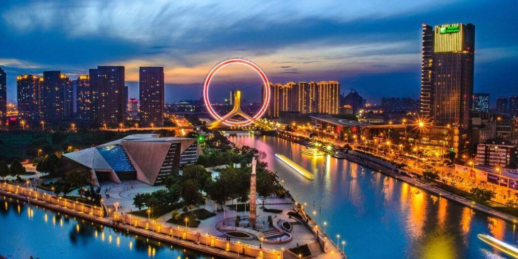 Tianjin region produkcji sztucznych kwiatów w Chinach miasto