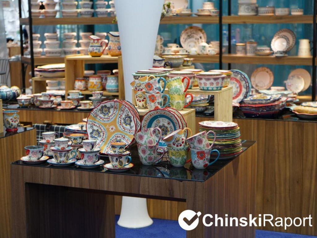 Naczynia ceramiczne na chińskich targach