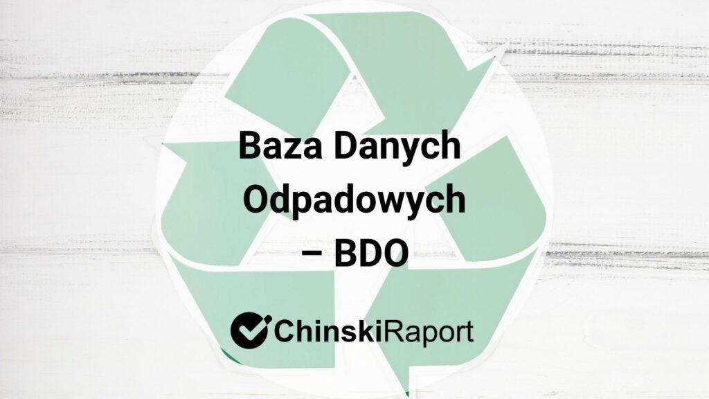Baza Danych Odpadowych (BDO)