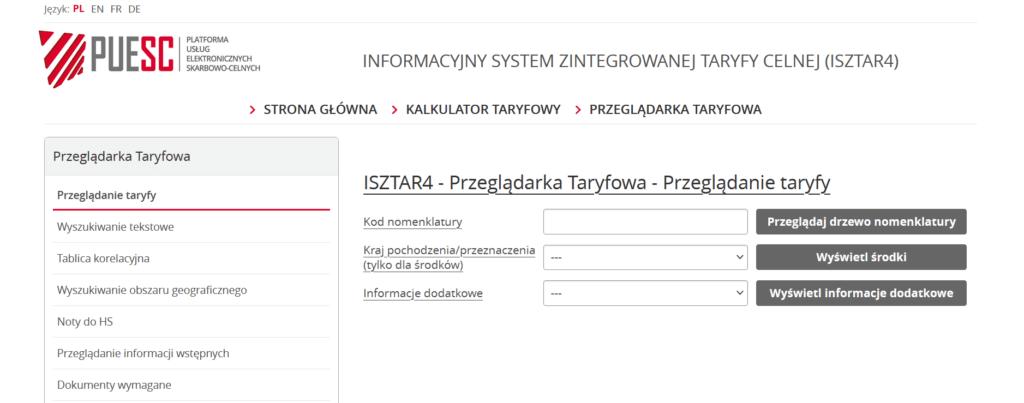 ISZTAR - przeglądarka
